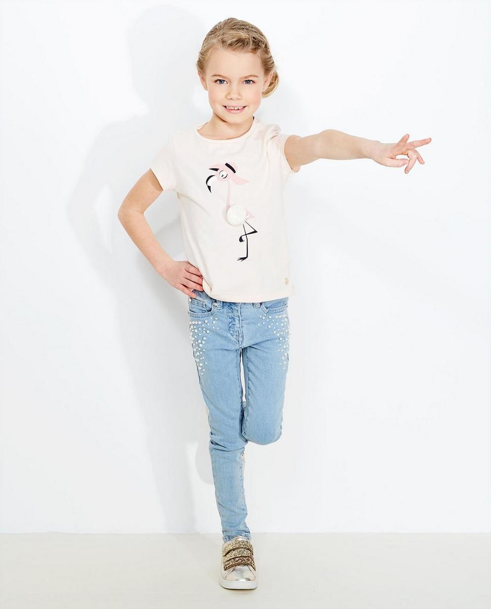 T-Shirt mit Flamingo - in Hellrosa - JBC